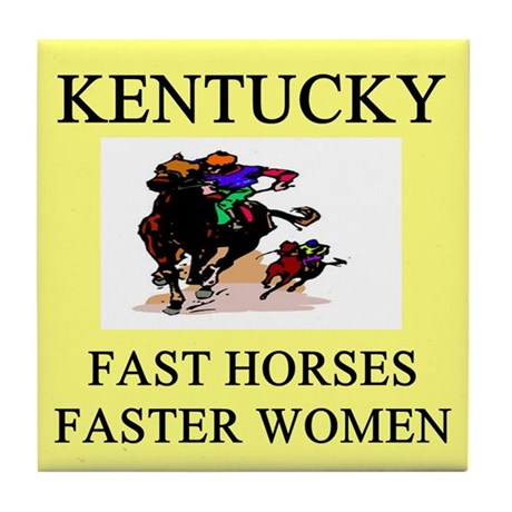 kentucky derby gifts t-shirts Tile Coaster