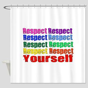 Rainbow Respect Shower Curtain