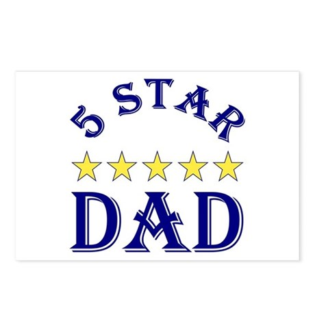 5 Star Dad Postcards (Package of 8)