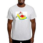 Sunbathing Santa Ash Grey T-Shirt