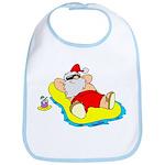 Sunbathing Santa Bib
