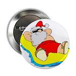 Sunbathing Santa Button