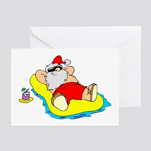 Sunbathing Santa Greeting Cards (Pk of 10)
