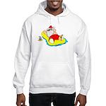 Sunbathing Santa Hooded Sweatshirt
