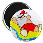 "Sunbathing Santa 2.25"" Magnet (10 pack)"