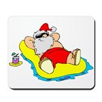 Sunbathing Santa Mousepad
