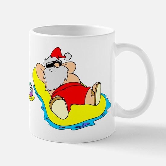 Sunbathing Santa Mug