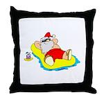Sunbathing Santa Throw Pillow