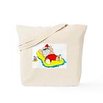 Sunbathing Santa Tote Bag