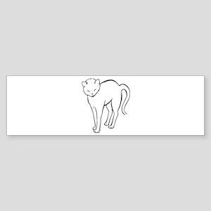 Stretchee Cat Bumper Sticker