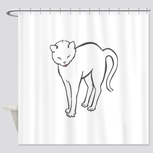 Stretchee Cat Shower Curtain