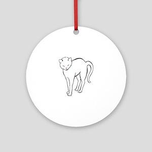 Stretchee Cat Round Ornament