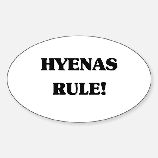 Hyenas Rule Oval Decal