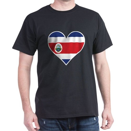 Costa Rican Flag Heart T-Shirt