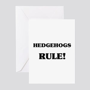 Hedgehogs Rule Greeting Cards (Pk of 10)