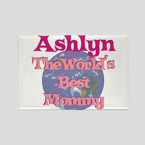 Ashlyn - World's Best Mommy Rectangle Magnet