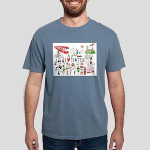 I Love Seattle Regular Men's T-Shirt