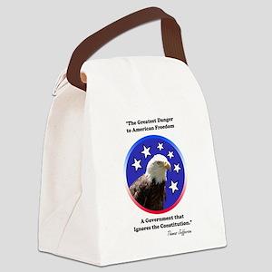 American Freedom Canvas Lunch Bag