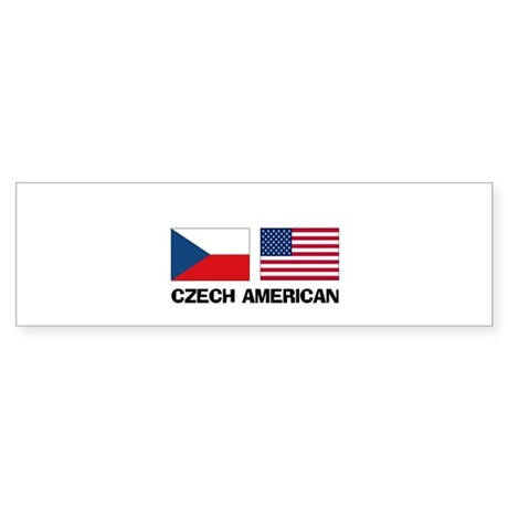 Czech American Bumper Sticker