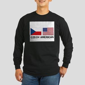 Czech American Long Sleeve Dark T-Shirt