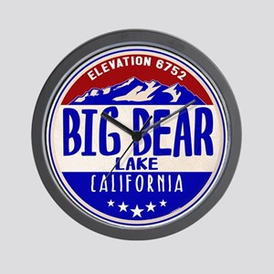 BIG BEAR LAKE CALIFORNIA NAUTICAL FLAG Wall Clock