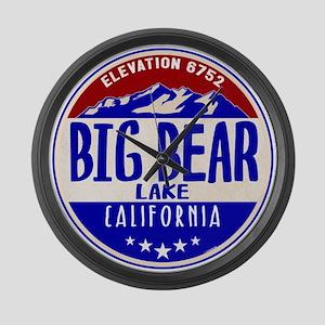 BIG BEAR LAKE CALIFORNIA NAUTICAL Large Wall Clock