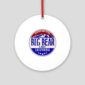 BIG BEAR LAKE CALIFORNIA NAUTICAL F Round Ornament