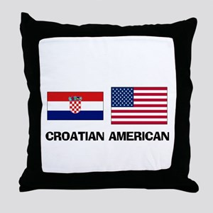 Croatian American Throw Pillow
