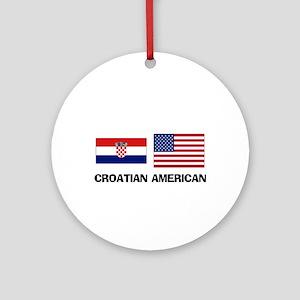 Croatian American Ornament (Round)