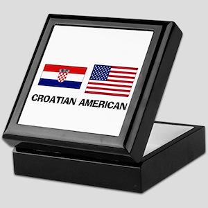 Croatian American Keepsake Box