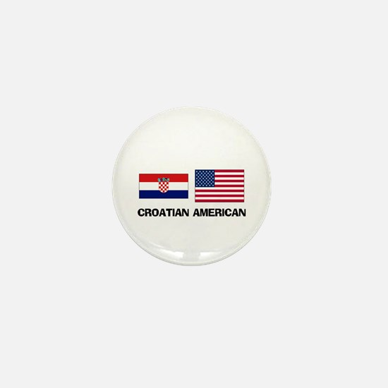 Croatian American Mini Button