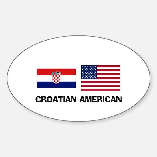 Croatian American Oval Decal