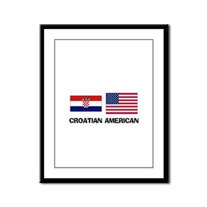 Croatian American Framed Panel Print