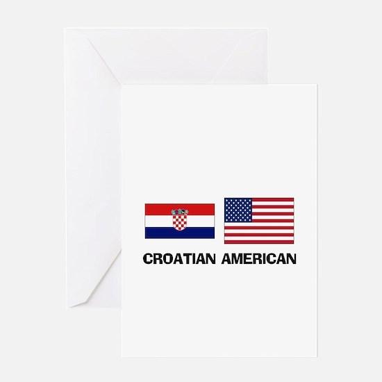 Croatian American Greeting Card