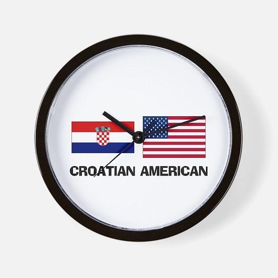 Croatian American Wall Clock