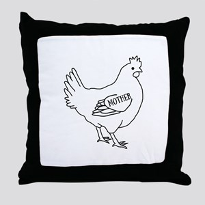 Mother Hen Throw Pillow