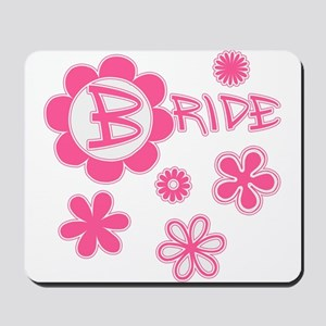 BRIDE with Pink Flowers Mousepad