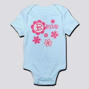 BRIDE with Pink Flowers Infant Bodysuit