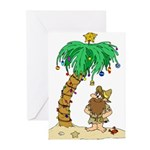 Desert Island Christmas Greeting Cards (Package of