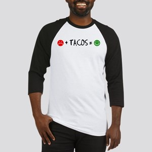 Plus Tacos Equals Happy Baseball Jersey
