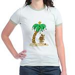 Desert Island Christmas Jr. Ringer T-Shirt