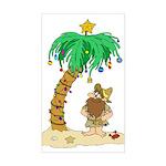 Desert Island Christmas Rectangle Sticker