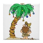 Desert Island Christmas Tile Coaster