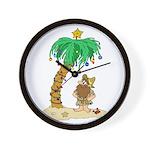 Desert Island Christmas Wall Clock