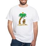 Desert Island Christmas White T-Shirt