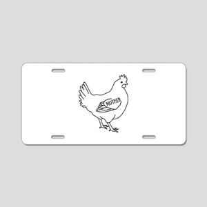 Mother Hen Aluminum License Plate