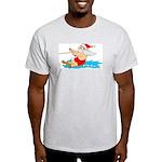 Waterski Santa Ash Grey T-Shirt