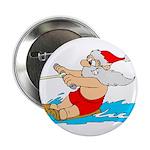 "Waterski Santa 2.25"" Button (10 pack)"