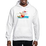 Waterski Santa Hooded Sweatshirt