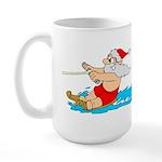 Waterski Santa Large Mug